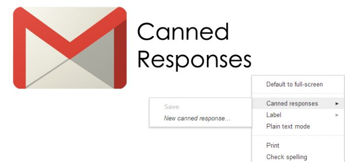 Gmail canned responses
