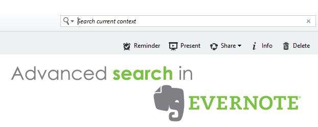 advanced search evernote
