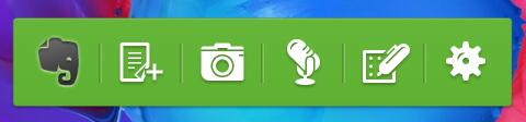 Evernote widget