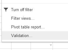 Data validation Google Sheets thumb