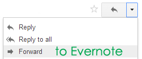 Email into Evernote