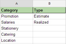 Google sheets budget template 3