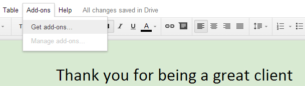 Mail merge in Google Docs 1