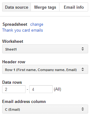 Mail merge in Google Docs 3