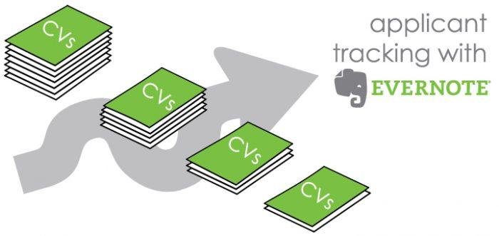 Applicant tracking with evernote